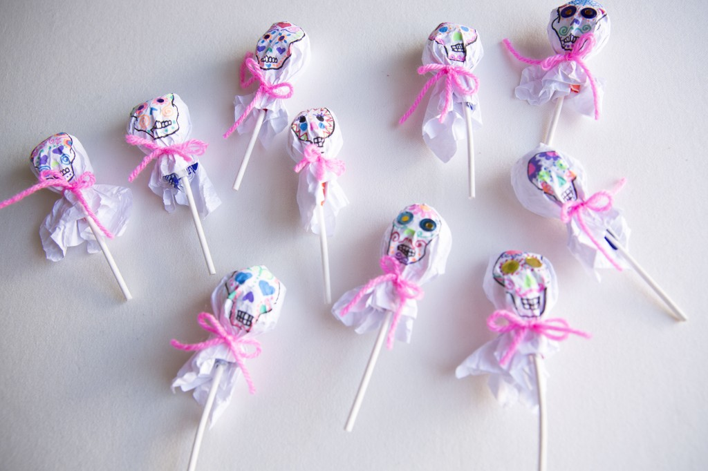 Sugar Skull Lollipop Wrappers